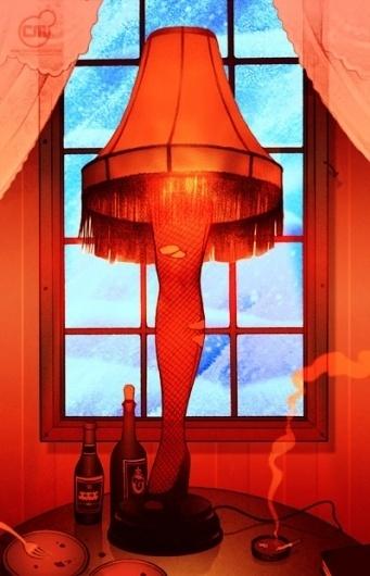 Picture major-award « Illustration | Chris B. Murray #lamp #leg #artwork #ralphie #christmas #story #chrisbmurray