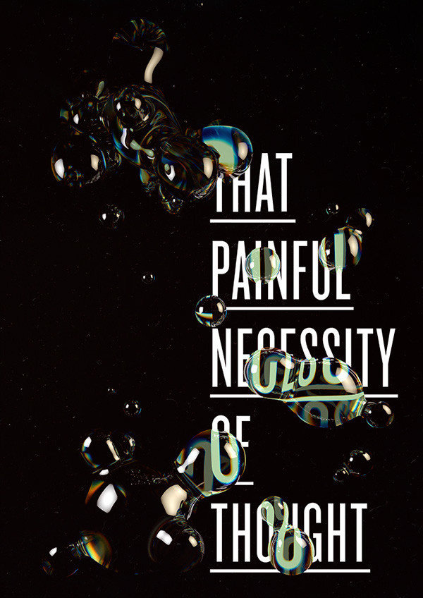 Painful on Behance #bubbles #design #floating #distortion #art #painful #though #typography