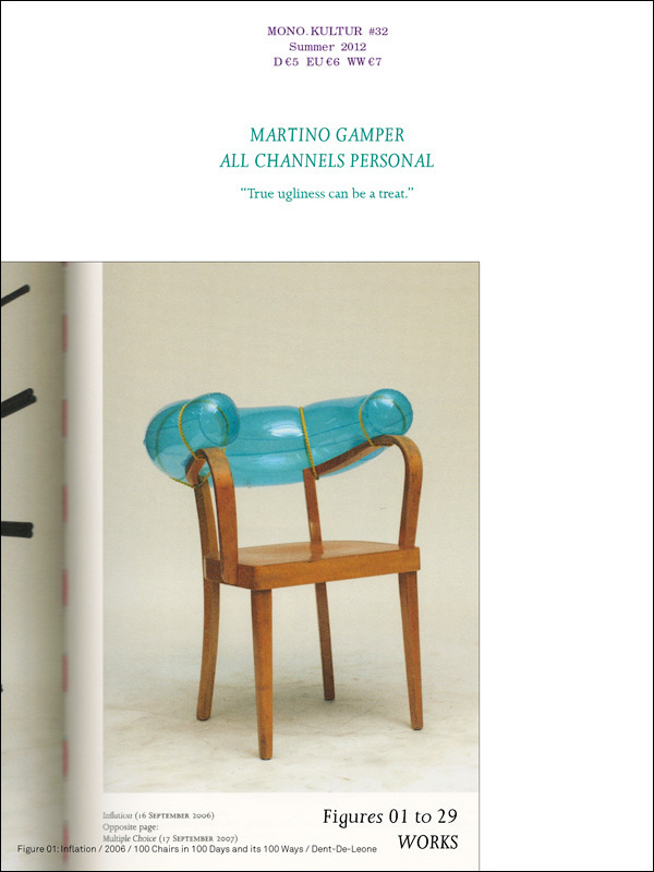 manystuff.org – Graphic Design, Art, Publishing, Curating… » Blog Archive » mono.kultur #32 – MARTINO GAMPER