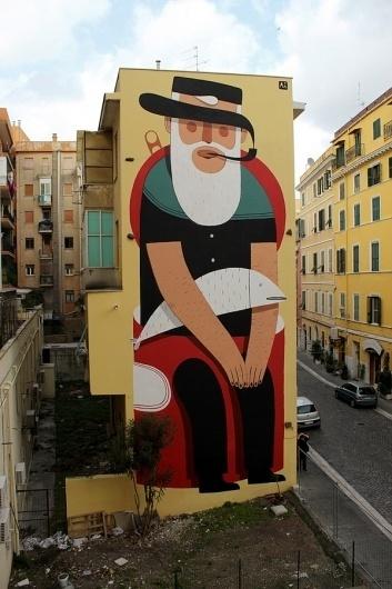 Agostino, Civitavecchia + Rome - unurth | street art #rome #agostino #civitavecchia #art #street