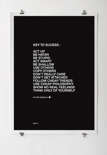 tips-on-posters12 | Fubiz™ #poster #typography