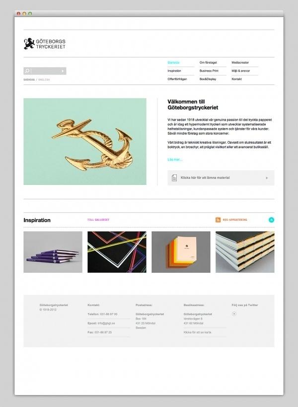 Websites We Love — Göteborgstryckeriet #design #web #webdesign