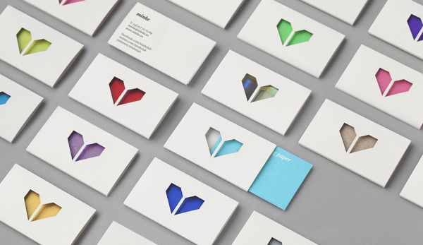 minke #cut #business #branding #packaging #card #laser #identity #envelope #logo #colour