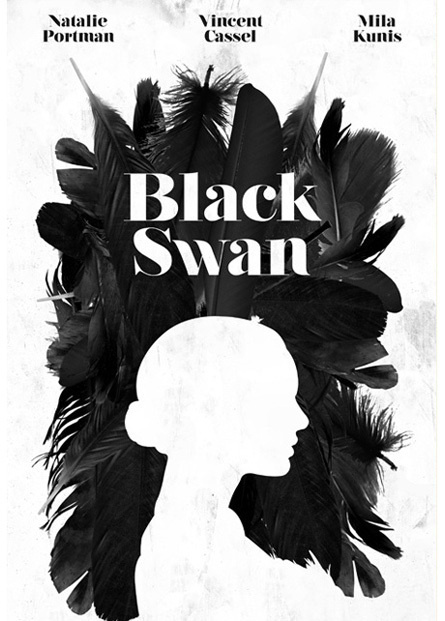 Black Swan – True Detective intro / movie posters selection #inspiration #poster #typography
