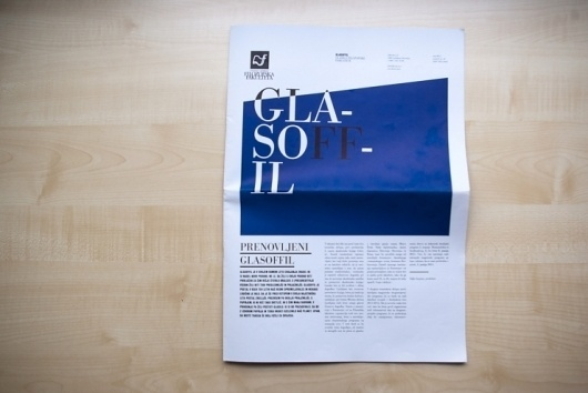 Glasoffil | vbg.si - creative design studio #newspaper