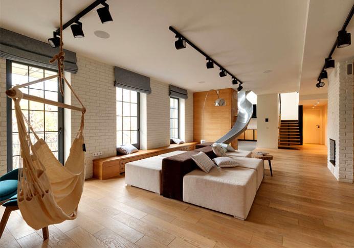 Two-Level Apartment by Ki Design Studio - #architecture, #home, #decor, #interior, #homedecor,