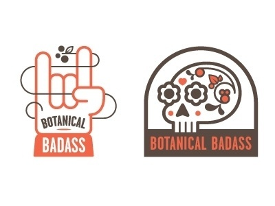 Dribbble - Botanical Badass by Chris Streger #design #logo #botanical badass #chris streger