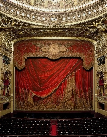 All sizes   Garnier Opera, Paris, by David Laventi   Flickr - Photo Sharing! #paris #stage #garnier #theatre #photography #opera