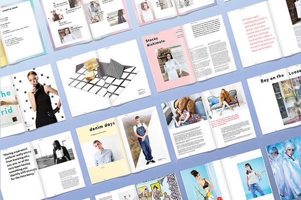 Sumzine, Uniform Issue on Behance #print #newyorkcity #reformation #graphic #sustainability #design #cover #colors #charlottecarey #sumzine #fashion #slow #editorial #magazine