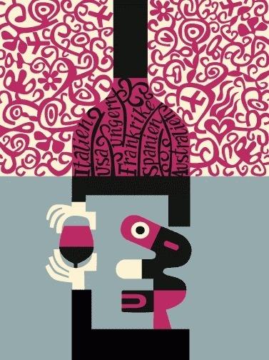 lasse043.gif (GIF Image, 377x504 pixels) #illustration #skarbovik #lasse #wine