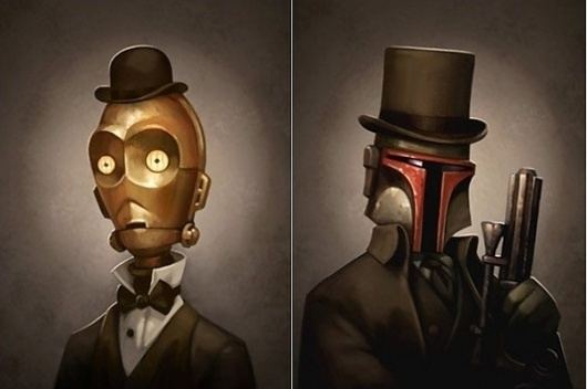 Greg Peltz's Victorian Star Wars Portraits | Trendland: Fashion Blog & Trend Magazine #greg #victorian #wars #peltz #portrait #star