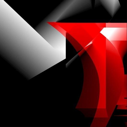 Red and Black #red #design #geometric #black #devil #architecture #art #dark #shadow