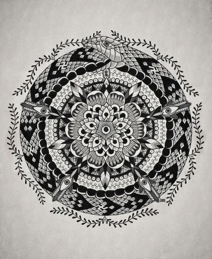 V | Flickr – Condivisione di foto! #white #black #snake #and #flower #geometrical
