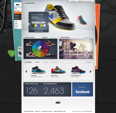 Nike 6.0 id Nation - Work - Instrument #shoes #design #clean #simple #colorful #web