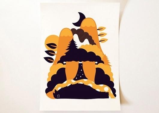 onesidezero — Busy Doing Nothing - A3 Giclée #print #design #illustration #poster #colour