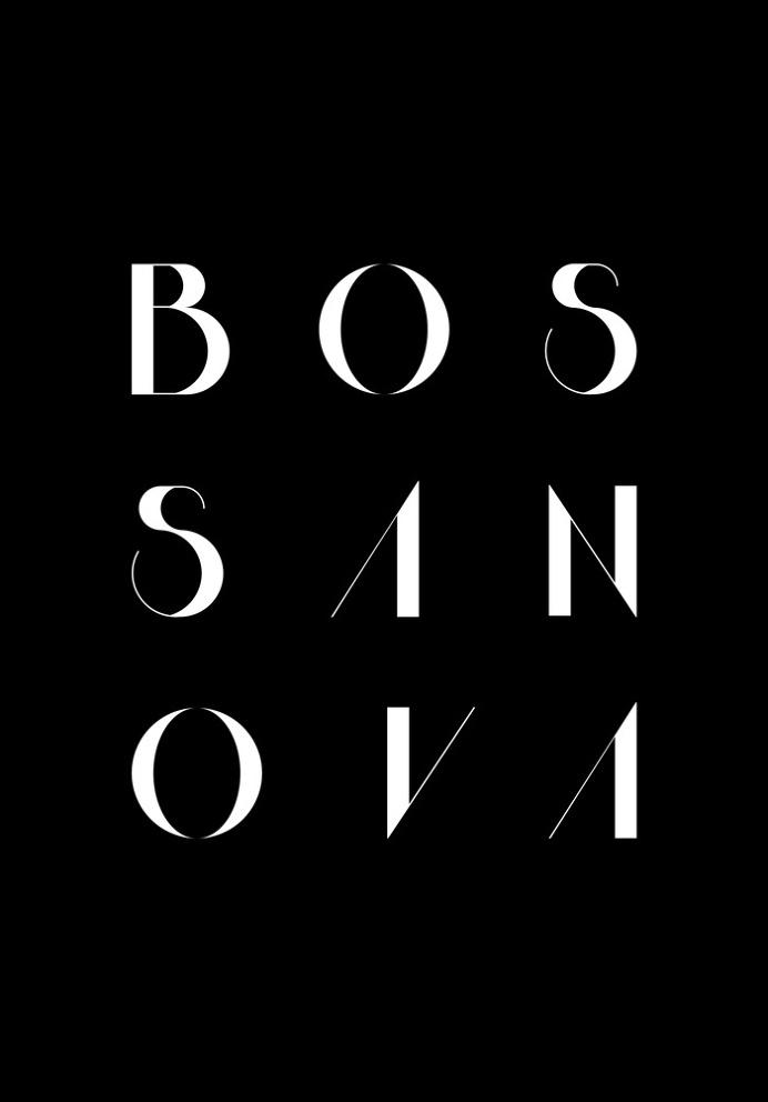 Bossa Nova 2 Black Art Print by Koning | Society6