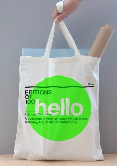 Editions of 100 — EO100 TOTE #bag #helvetica #green
