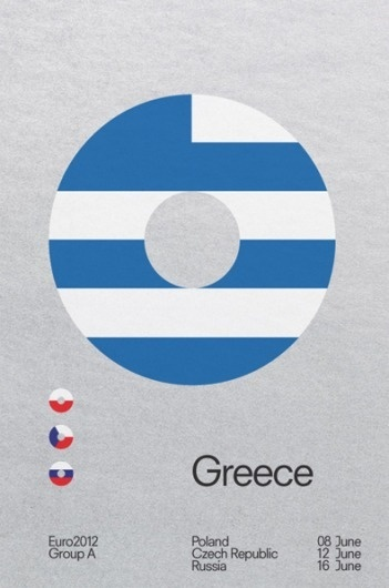 It's Nice That : The beautiful game gets a redesign in David Watson's Euro 2012 posters #football #poster
