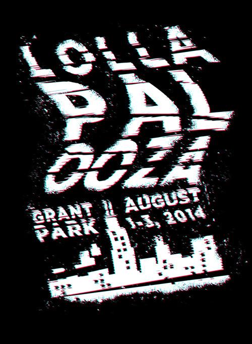 Lollapalooza music festival poster | Hunter Ellenbarger #festival #lollapalooza #poster #music #typography