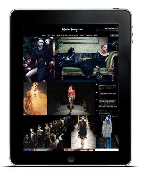 Salvatore Ferragamo 2012 #design #website #app #fashion #web