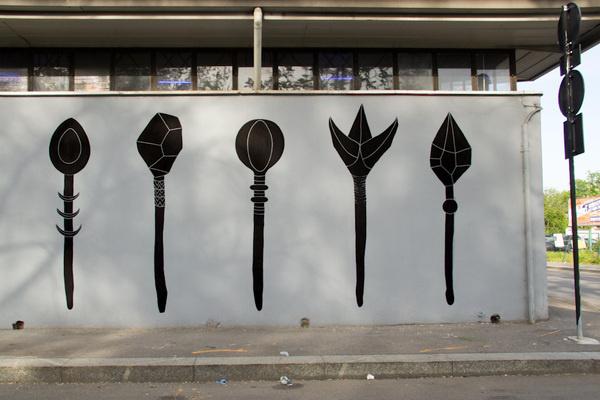 unurth   street art #wand #art #black #street