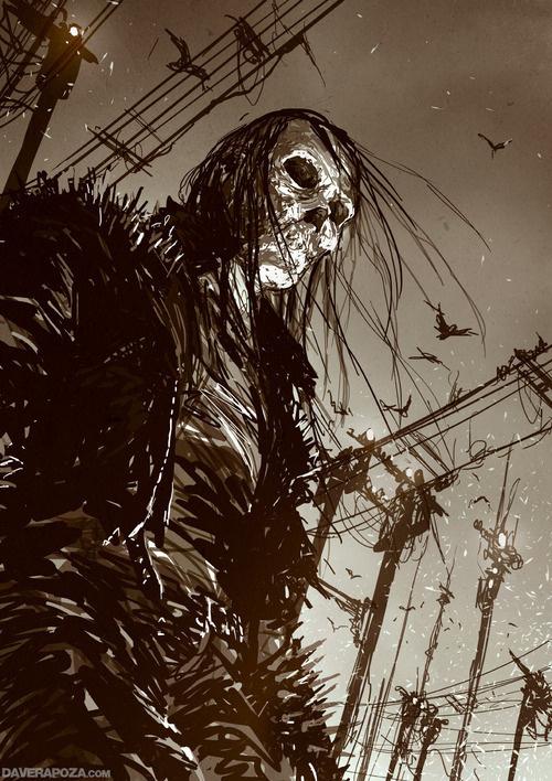 Skull and Shark sketch <3DaveRapoza.com! #dave rapoza #skull and shark