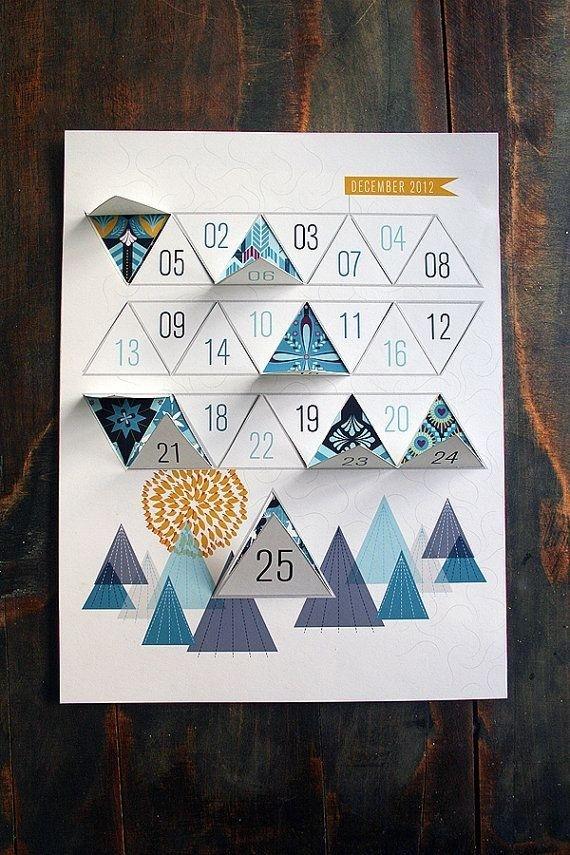 Modern Advent Calendar Printable PDF by JhillDesign on Etsy, $3.00 #calendar