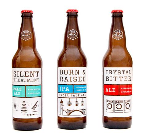 No-Li Brewhouse Bottles #packaging #beer #label #bottle