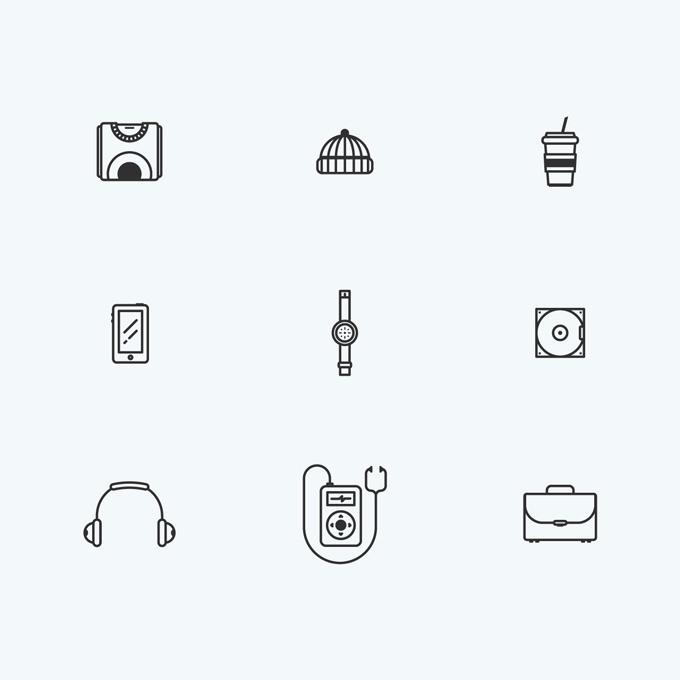 Outline Icon Set by Attico36 #graphic #design #outline #illustration #illustrator #vintage #vector #artwork#minimal #icon