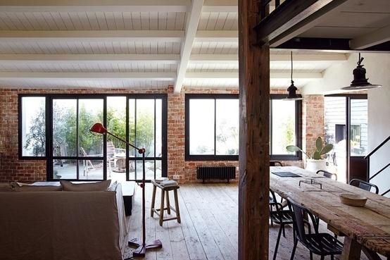 The Design Chaser: Interior Brick | Raw #interior #brick #design #decor #wall #deco #decoration