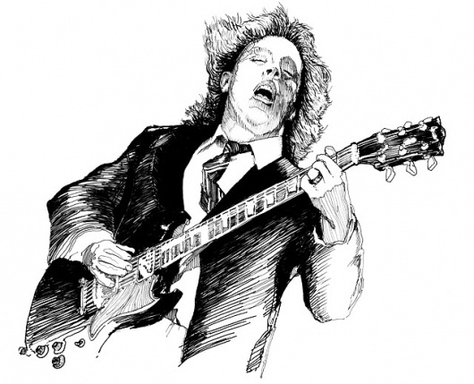 AngusYoung™ #young #acdc #angus #gibson #black #tint #back #suit