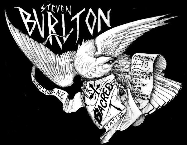 Steve Burlton #illustration #eagle #tattoo