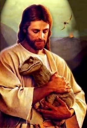 FFFFOUND! | While you weren't listening - these things reminded me of you #jesus #velociraptor