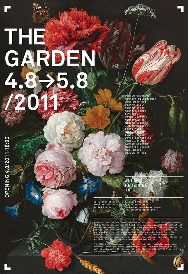 Allan Nederpelt Collection of Shows Posters & Advertisements | meta.matic #flowers
