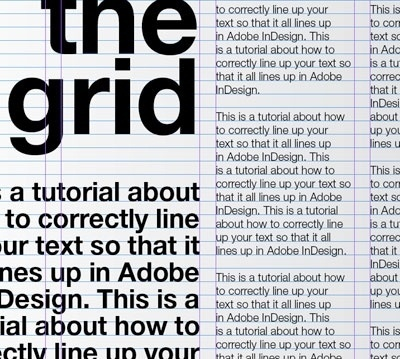A tutorial for good typography in InDesign - Setting up a baseline grid | Typophile #white #guidelines #black #grid #and