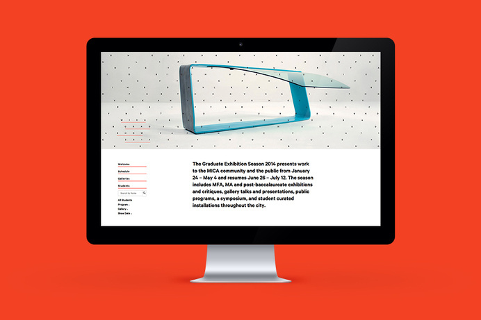 MICA Grad Show 2014 Â Â | Â Â View on Behance This year-long project pulled together content from the Maryland Institute College of Arts #catalog #neon #print #website #grid #digital #layout #web #editorial #brochure #typography