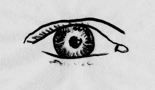 #gif #eye #blinking #blackandwhite #linedrawing
