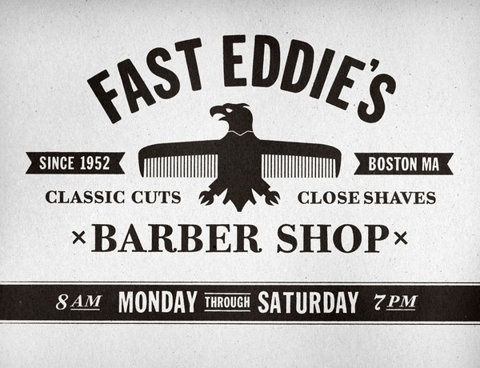 FFFFOUND! | Fast Eddie's Barber Shop on the Behance Network #eddie #shop #barber #logo #fast #typography