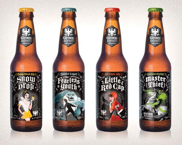 Grimm Brothers #beer #ornate #packaging #label #illustration #grimm