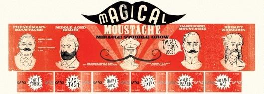 magicalmoustache.gif 1191×425 pixels #packaging #retro #vintage