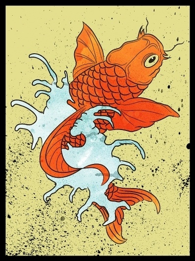 Solo 71 | The art of Dave Behm #vector #fish #japanese #koi #tattoo #poster #japan