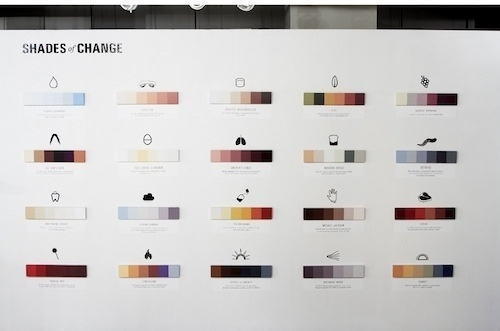 Artist Creates Minimalist Posters That Document Color Changes - DesignTAXI.com #dearie #of #color #marin #poster #change #spectrum #minimalist #shades