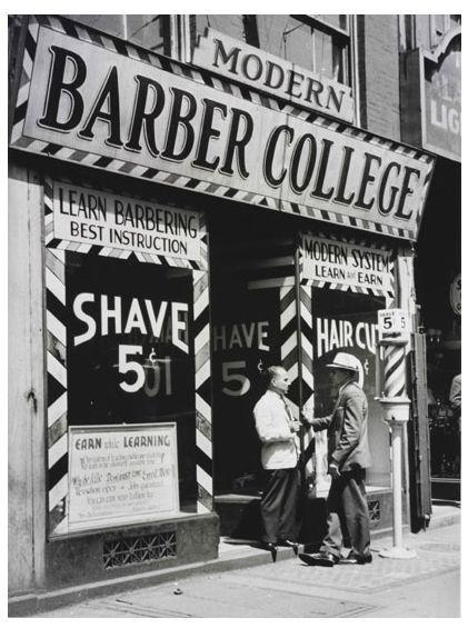 Image result for vintage barber shop front signage