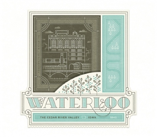 Waterloo - The Everywhere Project #stamp #design #label #illustration #luggage