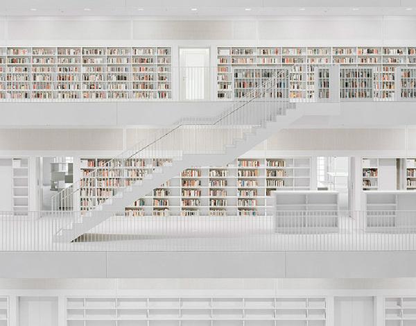 CJWHO ™ (eun young yi | new stuttgart library |...) #gonzlez #white #stuttgart #brigida #young #design #books #interiors #photography #architecture #fav #library #stairs #yi #eun