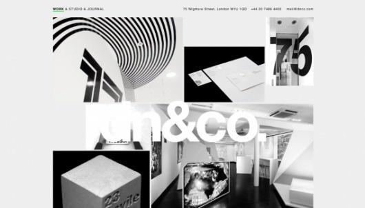 dn&co - Web design inspiration from siteInspire #website #helvetica #webdesign