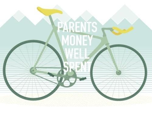 ANONYMOUS MAG #fixie #bicycle #ride #hipster #parents #bike #spent #mountains #money #saddle