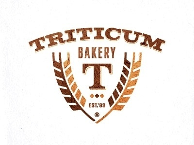 Dribbble - Triticum bakery by Paul Saksin #bakery #design #crest #logo #wheat