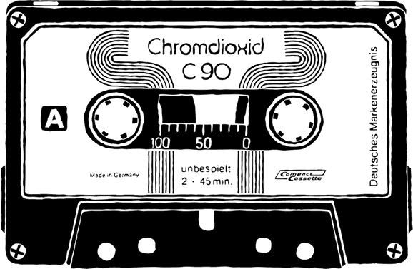 Mix Tapes on Behance #white #design #black #illustration #80s #and #tapes