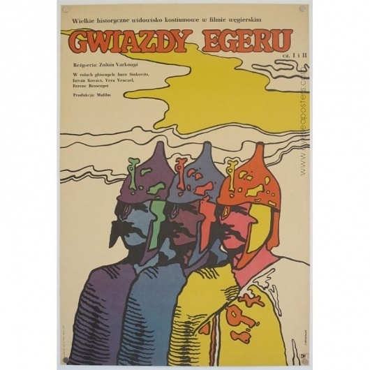 ORIGINAL VINTAGE FILM POSTERS - EYE SEA POSTERS / Gwiazdy Egeru - original Polish film poster #illustration #polish #poster